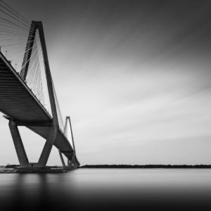 Arthur Ravenel Jr. Bridge, Charleston, South Carolina, Black and White, Long Exposure, Ivo Kerssemakers