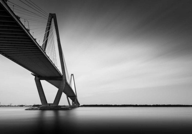 Arthur Ravenel Jr. Bridge, Charleston, South Carolina, Black and White, Long Exposure, Ivo Kerssemakers