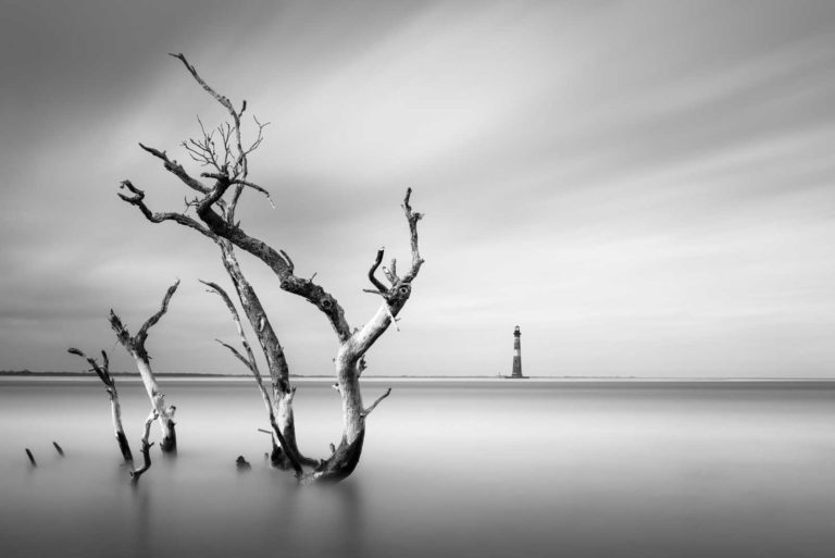 Morris Island, Lighthouse, Black and White, B&W, Charleston, South Carolina, Long Exposure, Fine Art, Ivo Kerssemakers