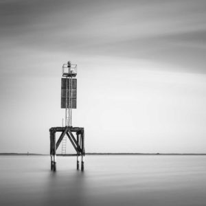 Winyah Bay. Georgetown, Beacon, Black and White, Water, Long Exposure, B&W, Fine Art, Ivo Kerssemakers