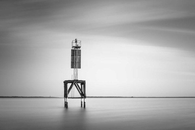 Winyah Bay. Georgetown, Beacon, Black and White, Water, Long Exposure, B&W, Fine Art, Ivo Kerssemakers