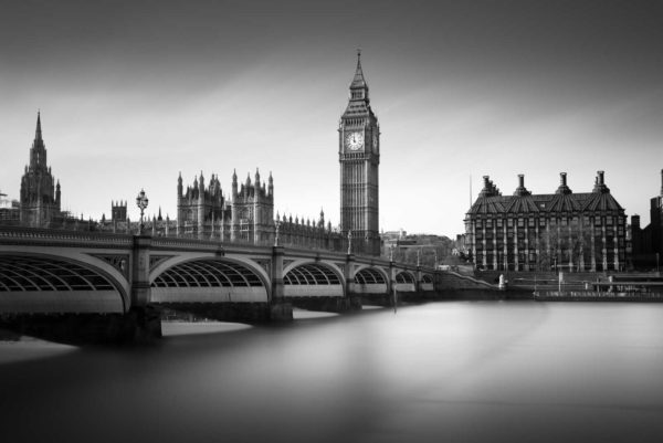 House of parliament, Big Ben, Elisabeth tower, black and white, long exposure, London, westminster bridge, Ivo Kerssemakers