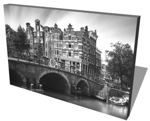 Amsterdam, Brouwersgracht, Black and White, Long Exposure, Ivo Kerssemakers, Canals, Architecture, Netherlands, Holland, Fine Art, B&W