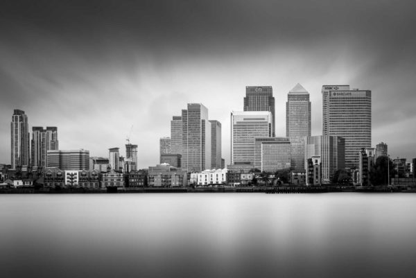 Canary Wharf, London, Black and White, B&W, Long Exposure, England, Ivo Kerssemakers