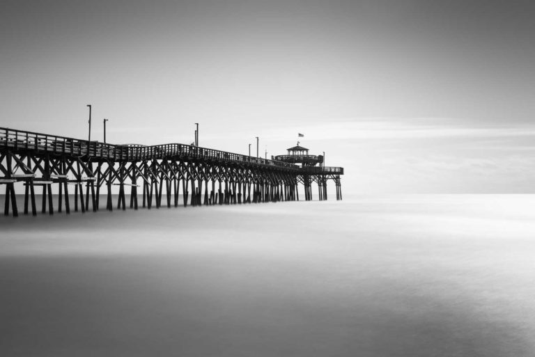 Cherry Grove, Pier, North Myrtle Beach, South Carolina, Black and White, Long Exposure, Ivo Kerssemakers
