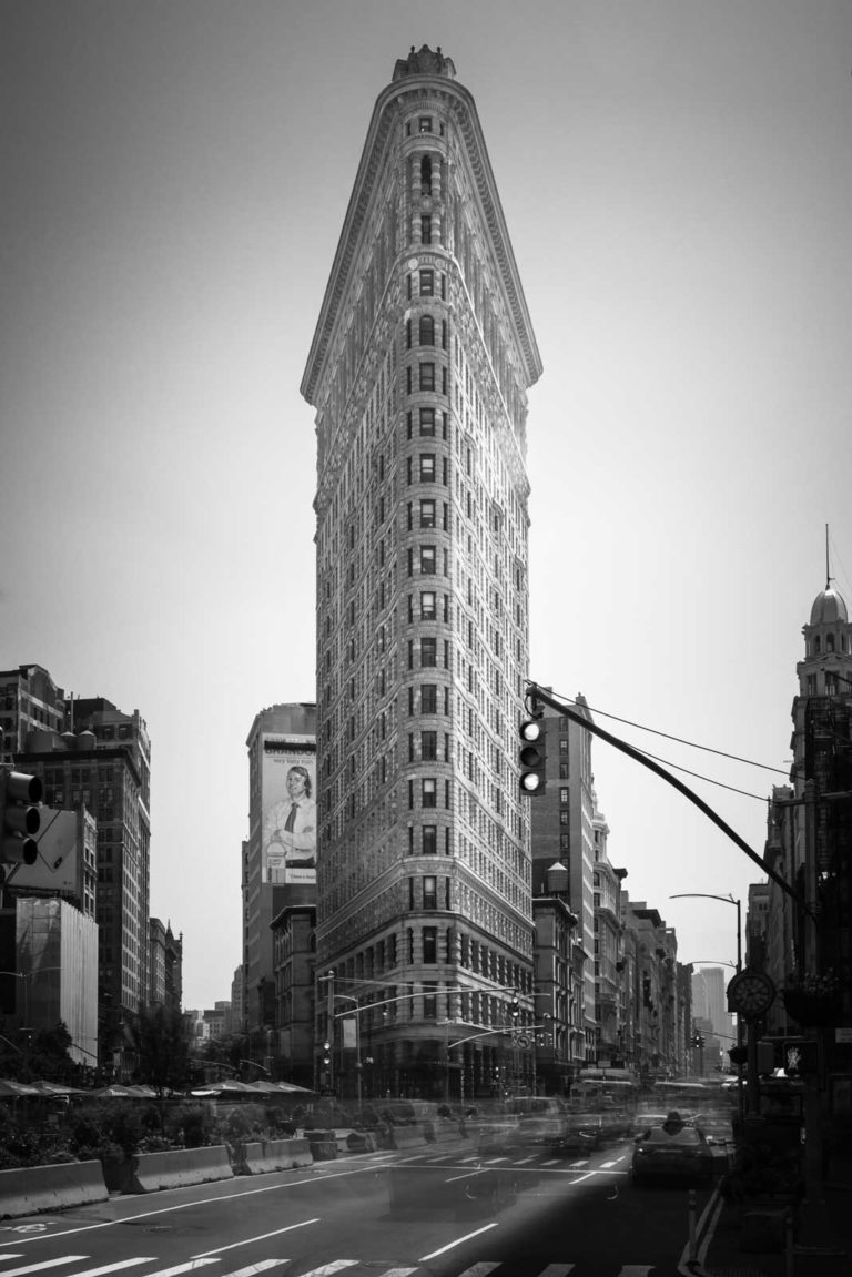 Flatiron Building New York, Black and White, Long Exposure, Ivo Kerssemakers