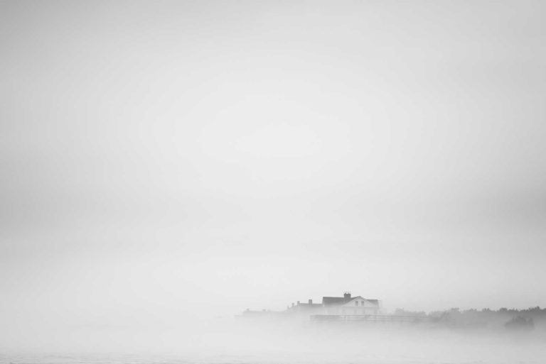 Pawleys Island, Point, Fog, Black and White, B&W, Beach, Ocean, Beach house, Fine Art, Ivo Kerssemakers