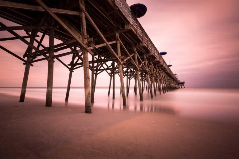 Gardne City Pier Sunset, Long Exposure, Ivo Kerssemakers