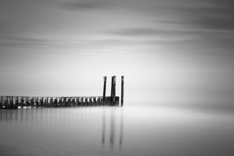 Garden City, South Carolina, Jetty, Groin, Beach, Ocean, Long Exposure, Black and White, B&W, Fine Art, Ivo Kerssemakers
