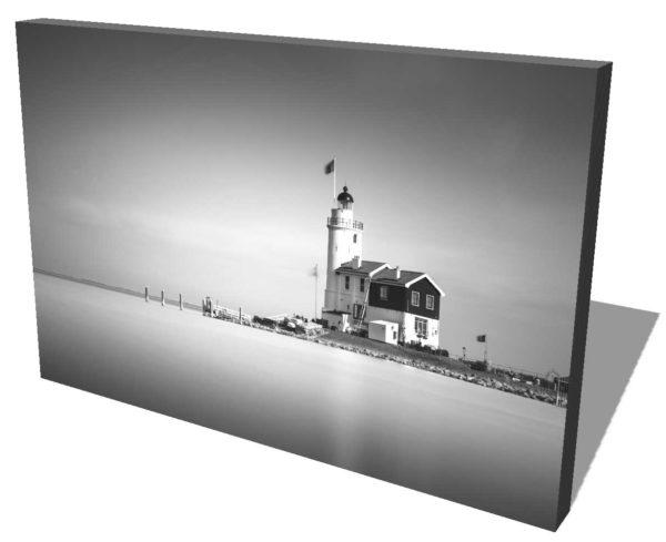 Marken, Lighthouse, het paard van Marken Black and White, Long Exposure, Ivo Kerssemakers, Canals, Architecture, Netherlands, Holland, Fine Art, B&W