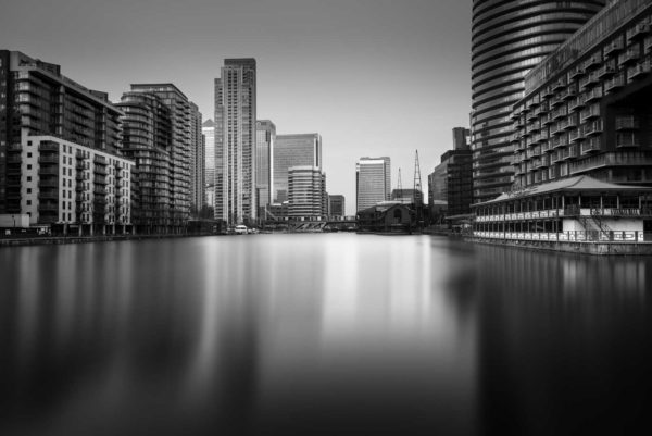 Canary Wharf, London, Black and white, Long exposure, England, Ivo Kerssemakers