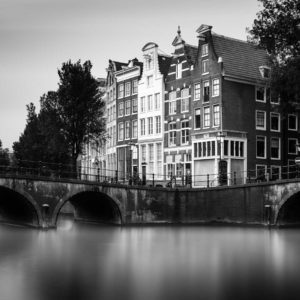 Amsterdam, Keizersgracht, Black and White, Long Exposure, Ivo Kerssemakers, Canals, Architecture, Netherlands, Holland, Fine Art, B&W