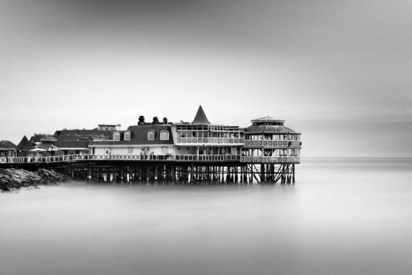 La Rosa Náutica, Lima, Peru, South America, Black and White, Long Exposure