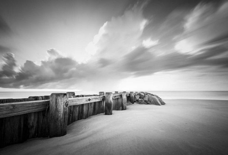 Pawleys Island, Groin, South Carolina, Ocean, Beach, Black White, Long Exposure BW, Ivo Kerssemakers
