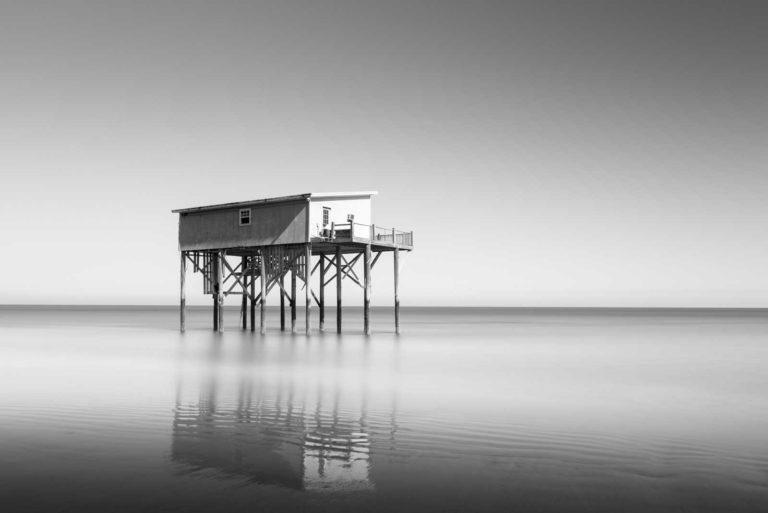Hunting Island, South Carolina, Cabin, Little Blue, Black and White, Long Exposure, The indomitable Lady, Ivo Kerssemakers