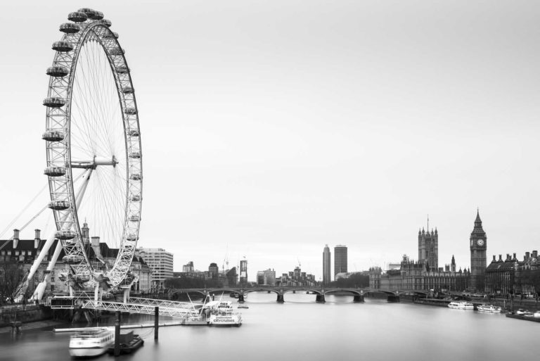 London, Eye, England, Black and white, Longexposure, Ivo Kerssemakers