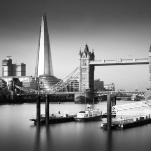 Shard, Tower Bridge, London, Thames, Black and White, Long Exposure, England, Ivo Kerssemakers