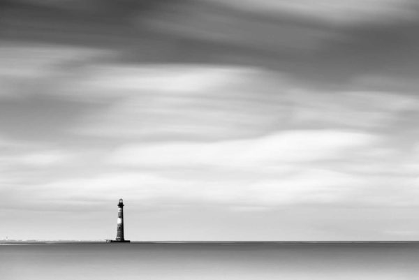 Morris Island, Lighthouse, Long Exposure, Black and White, South Carolina, Folly Beach, Ivo Kerssemakers