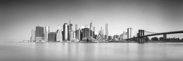 New York, Brooklyn Bridge Black and White Cityscape Long Exposure Photography, Fine Art, Ivo Kerssemakers