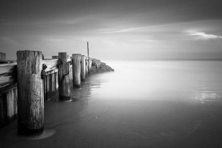 Pawleys Island, Groin, Black & White, Long Exposure, Ocean, South Carolina, Ivo Kerssemakers