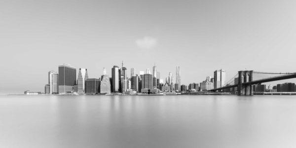New York, Brooklyn Bridge Black and White Cityscape Long Exposure Photography, Fine Art, Ivo Kerssemakers