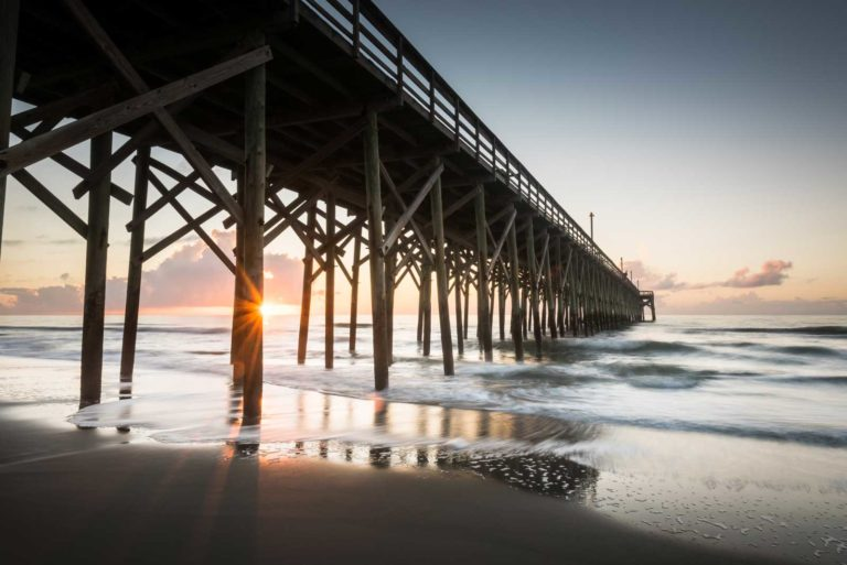 Pawleys Pier Sunrise, Pawleys Island, Long Exposure, Fine Art Photography, South Carolina,Ivo Kerssemakers