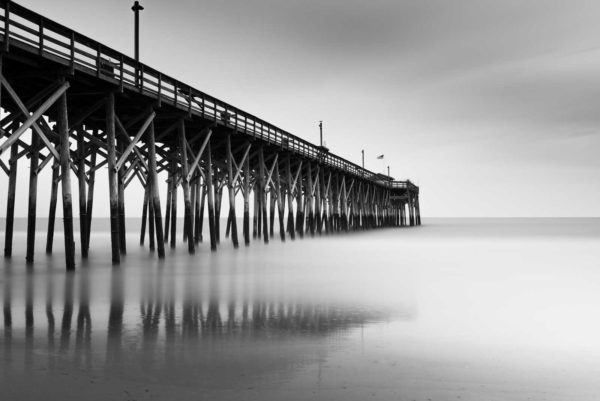 Pawleys Island, Pier, Black and White, Long Exposure, Dusk, South Carolina, Ivo Kerssemakers