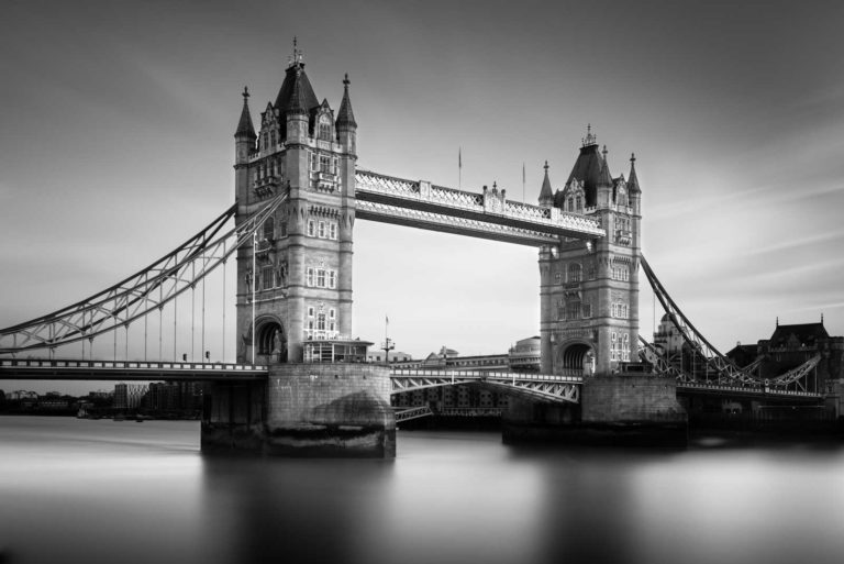 Tower Bridge, London, Black and White, Long Exposure, Ivo Kerssemakers