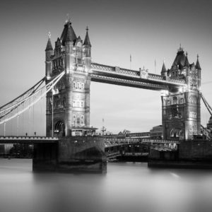 Tower Bridge, London, Black and White, Long Exposure, Ivo Kerssemakers, Fine Art