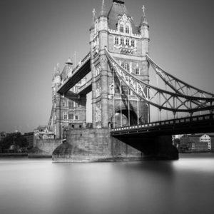 Tower Bridge, London, Black and White, Long Exposure, Ivo Kerssemakers, Fin Art
