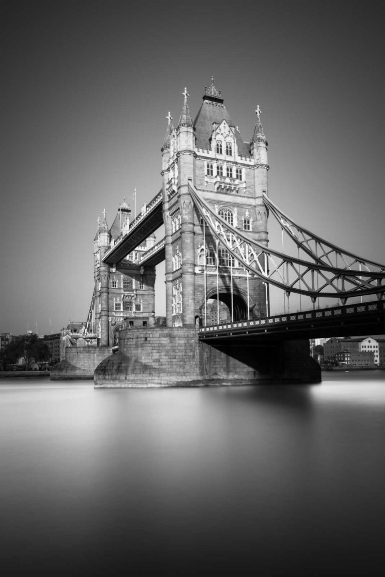 Tower Bridge, London, Black and White, Long Exposure, Ivo Kerssemakers, Fin Art