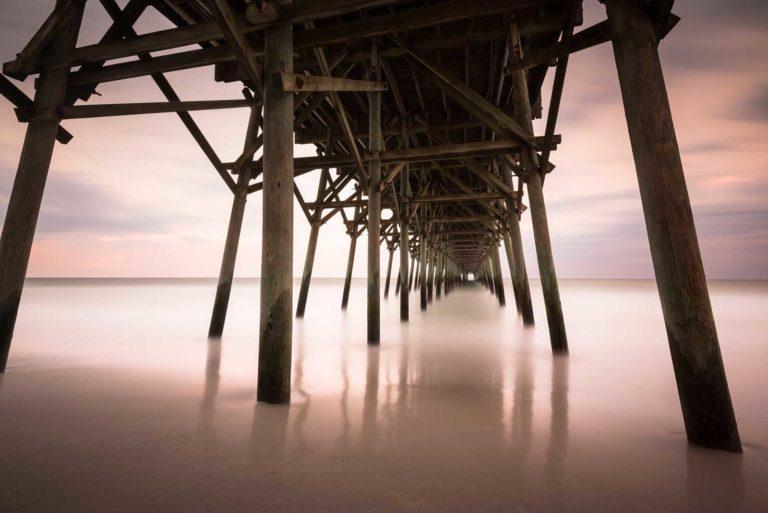 Garden City Pier Sunset, Long Exposure, Fine Art Photography, South Carolina,Ivo Kerssemakers