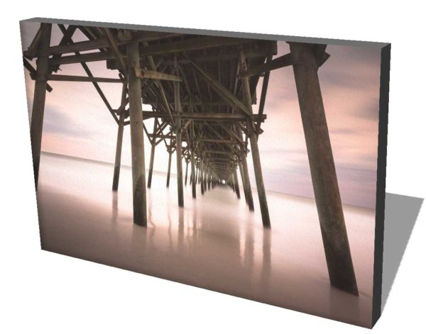 Garden City Pier Sunset, Long Exposure, Fine Art Photography, South Carolina,Ivo Kerssemakers, Canvas rendering