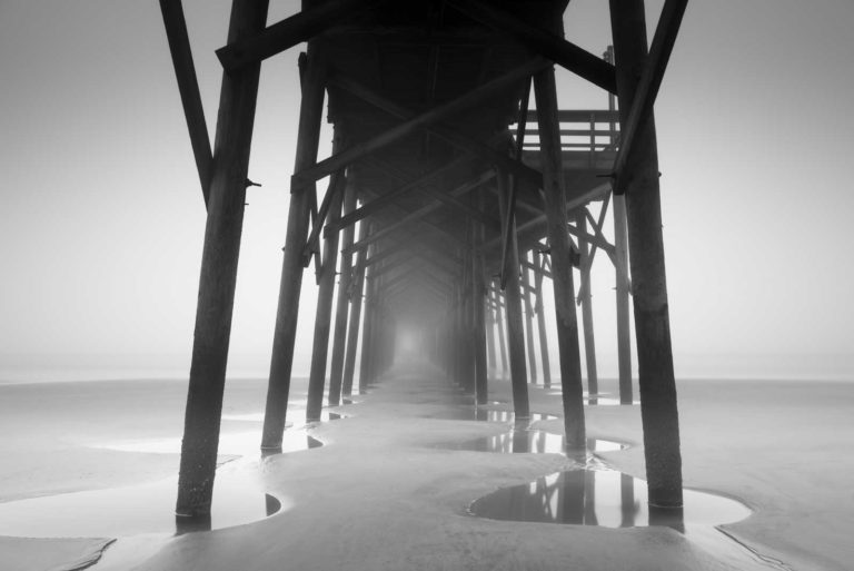 Pawleys Island Pier, Black and White, Fog, Long Exposure, South Carolina, Ivo Kerssemakers