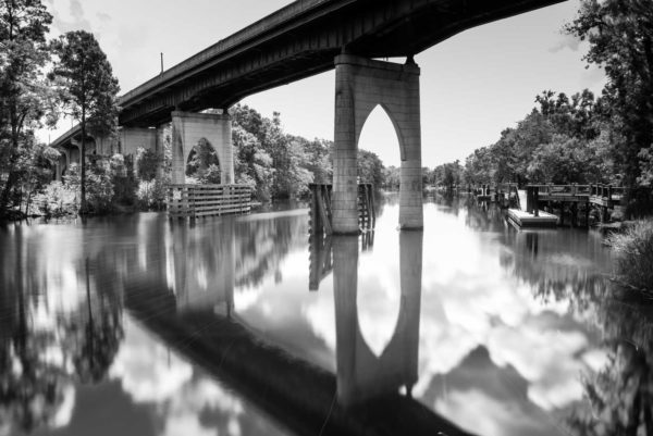 Conway, Waccamaw River, Bridge, Black and White, Long Exposure, South Carolina, Ivo Kerssemakers