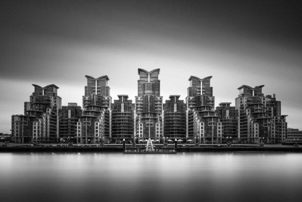 London, st. George Wharf, Black and white, Long Exposure, England, B&W, Fine Art, Ivo Kerssemakers