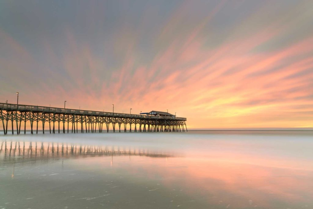 Garden City, Pier, South Carolina, Long Exposure,Sunrise, Ivo Kerssemakers
