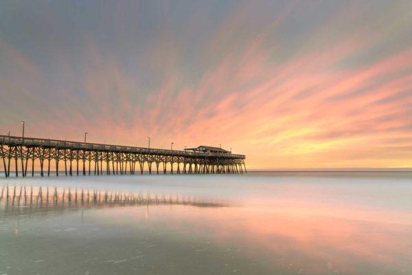 Garden City, Pier, South Carolina, Long Exposure,Sunrise, Ivo Kerssemakers