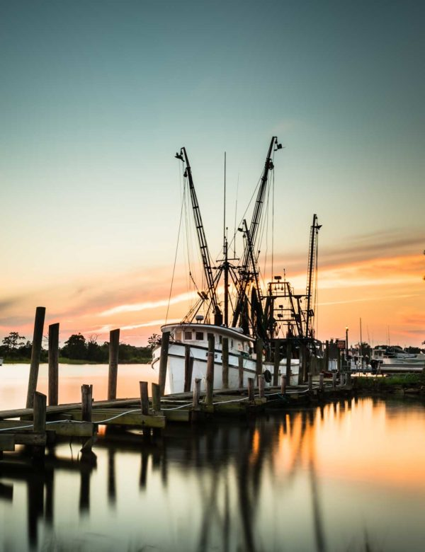 Georgetown, South Carolina, Shrimp, Boat, Sunset, Independent Seafood Company, Fine Art, Ivo Kerssemakers, Long Exposure