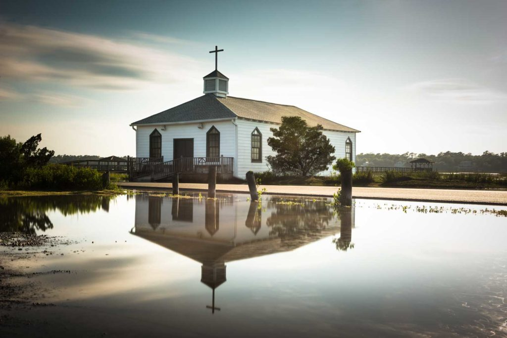 Pawleys Island, Chapel, Sunset, Long Exposure, South Carolina, Reflection, Ivo Kerssemakers, Water, High Tide