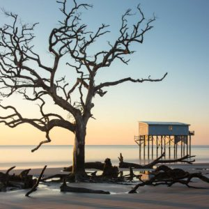 Hunting Island, Sunrise, Long Exposure, Little Blue, Cabin, The Indomitable Lady, South Carolina, Ivo Kerssemakers