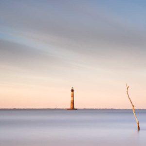 Morris Island, Lighthouse, Sunset, Charleston, Folly Beach, South Carolina, Long Exposure, Ivo Kerssemakers, Fine Art, Photography