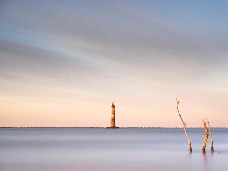 Morris Island, Lighthouse, Sunset, Charleston, Folly Beach, South Carolina, Long Exposure, Ivo Kerssemakers, Fine Art, Photography