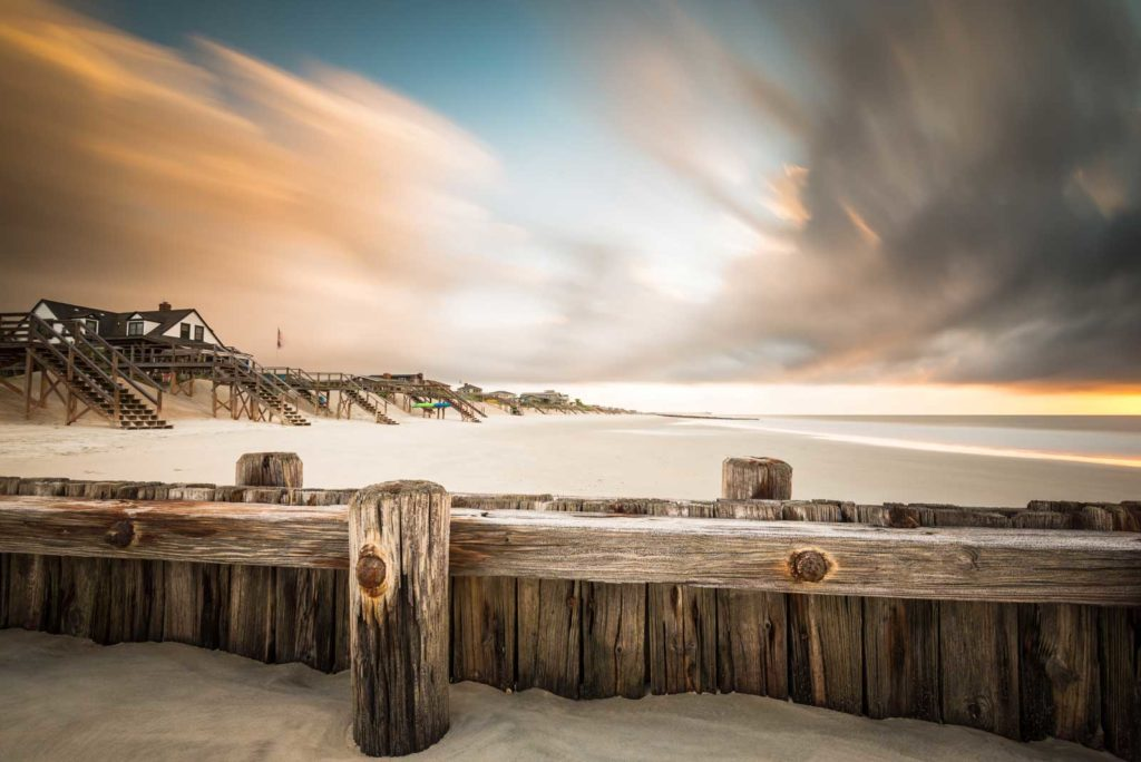 Pawleys Island, Sunrise, South Carolina, Long Exposure, Beach, Beach houses, Clouds, Ocean, Ivo Kerssemakers
