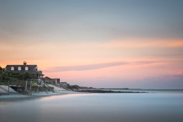 Pawleys Island, South Carolina, Long Exposure, Beach house, Beach, Groin, sunset, Pier, Ocean, Ivo Kerssemakers, Fine Art