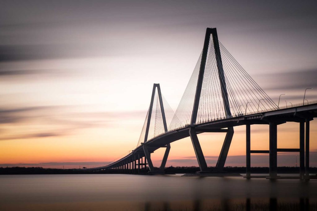 Arthur Ravenel Jr. Bridge, Charleston, South Carolina, Color, Long Exposure, Ivo Kerssemakers