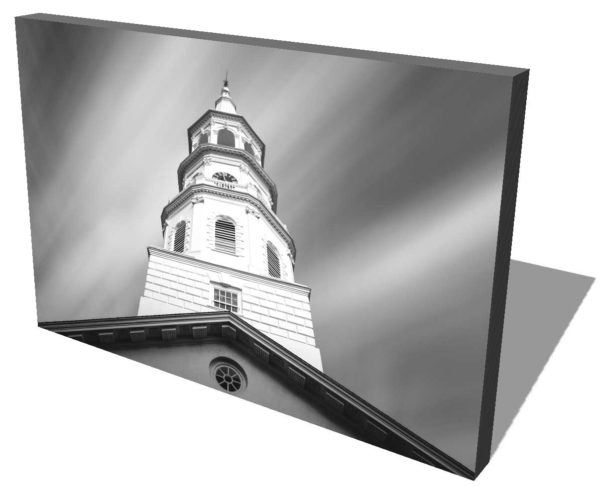 Canvas print of the steeple of the St. Michaels Church in Charleston, South Carolina