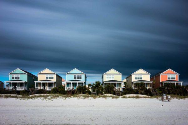 Surfside Beach, houses, beach, ocean, long exposure, fine art, Ivo Kerssemakers