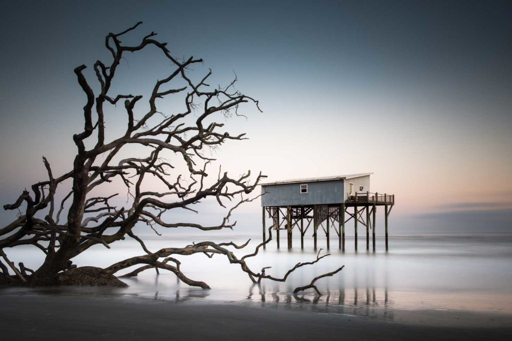 Hunting Beach State Park, Camping Cabin, Little Blue, Long exposure, Color, The Indomitable Lady, South Carolina, Ivo Kerssemakers