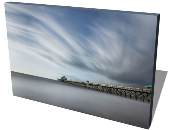 Canvas print of a the Folly Beach Pier before the tear down, South Carolina, before sunset hours, by Ivo Kerssemakers